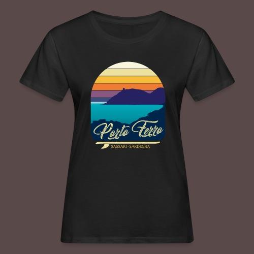 Porto Ferro - Vintage travel sunset - T-shirt ecologica da donna