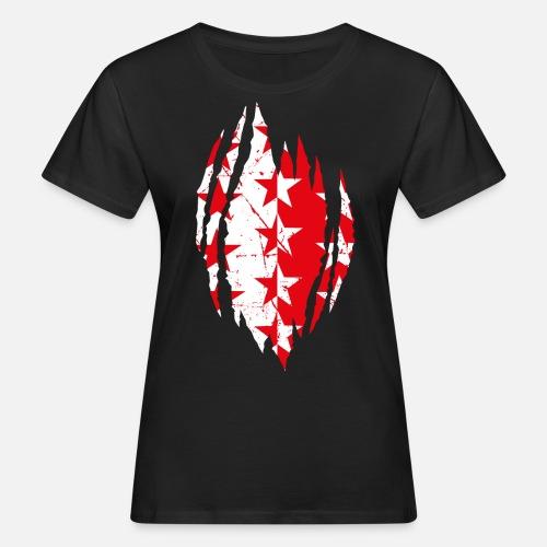 VALAIS / WALLIS - Frauen Bio-T-Shirt