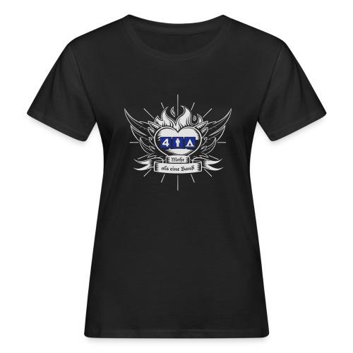 Viermannzelt T-Shirt_2016_weiss-blau - Frauen Bio-T-Shirt
