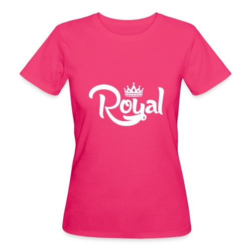 Royal Logo White Edition - Women's Organic T-Shirt