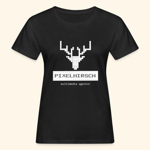 PIXELHIRSCH - high contrast - Frauen Bio-T-Shirt
