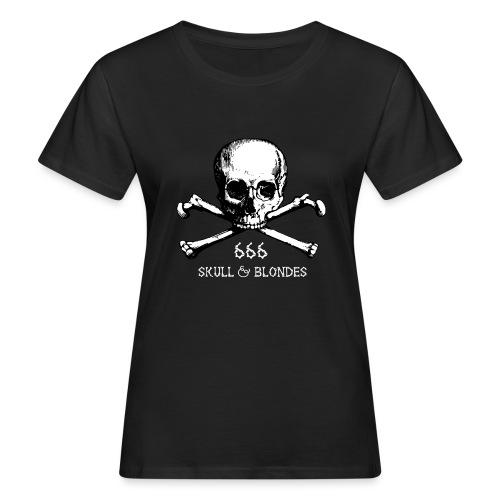 skull & blondes (white) - Frauen Bio-T-Shirt