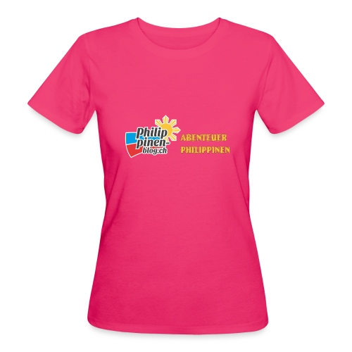 Philippinen-Blog Logo deutsch schwarz/orange - Frauen Bio-T-Shirt