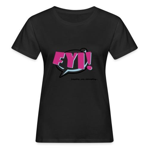 FYI.ai - Naisten luonnonmukainen t-paita