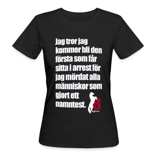 HorseBook line - Ekologisk T-shirt dam