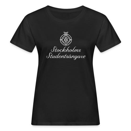 SSSF logo / emblem + namn (vit) - Ekologisk T-shirt dam