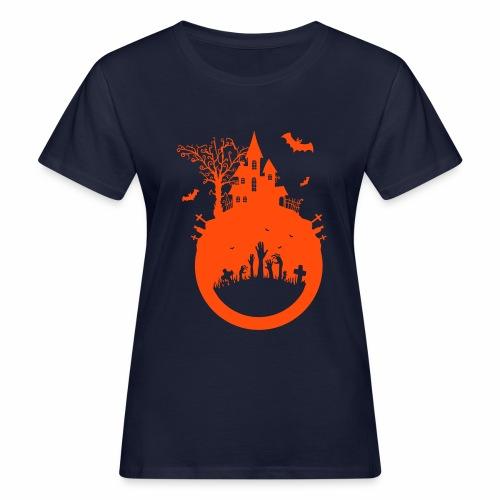 Halloween Design - Das Spukhaus - Frauen Bio-T-Shirt