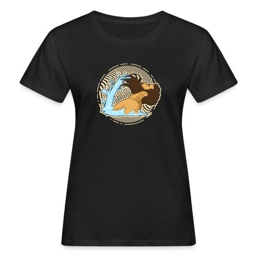 Bart Welle - lustiges Geschenk für Männer mit Bart - Frauen Bio-T-Shirt