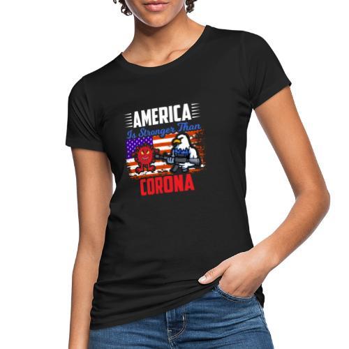 America against Corona - Frauen Bio-T-Shirt