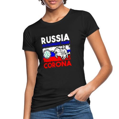 Russia against Corona - Frauen Bio-T-Shirt