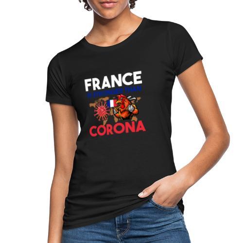 France against Corona - Frauen Bio-T-Shirt