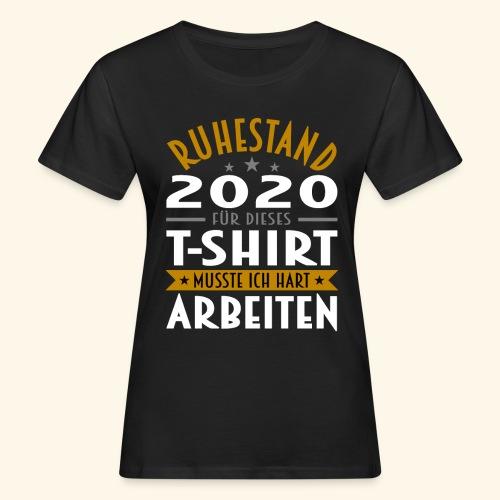 Ruhestand 2020 - Frauen Bio-T-Shirt