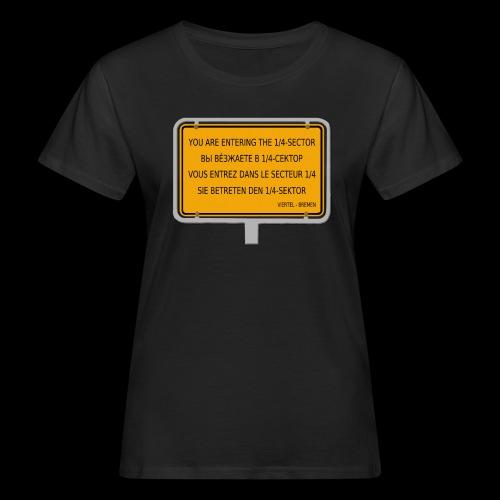 1/4 Bremen - Viertel-Sektor - Frauen Bio-T-Shirt