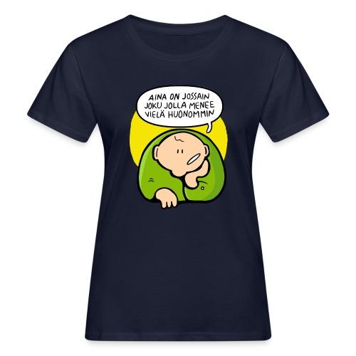 optimisti - Naisten luonnonmukainen t-paita