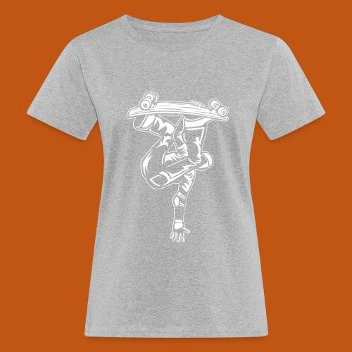 Skater / Skateboarder 03_weiß - Frauen Bio-T-Shirt