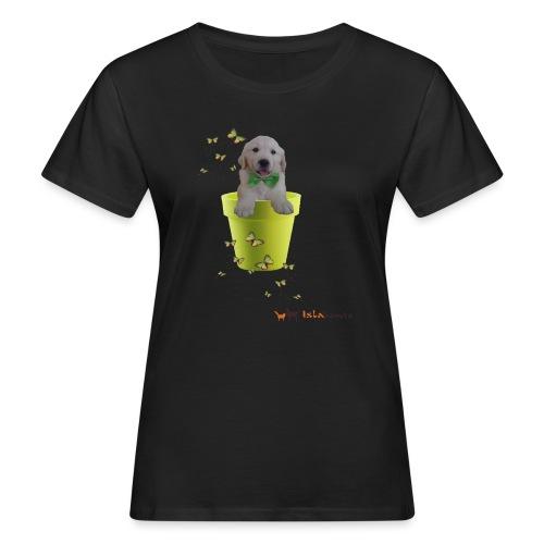 Cucciolo Golden Retriever in-vaso dalle farfalle - T-shirt ecologica da donna