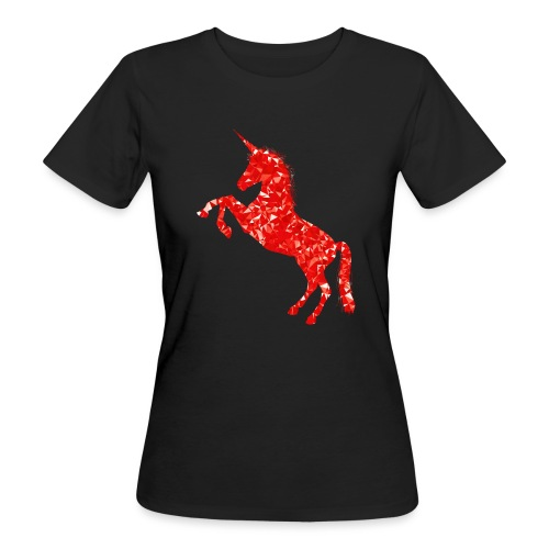 unicorn red - Ekologiczna koszulka damska