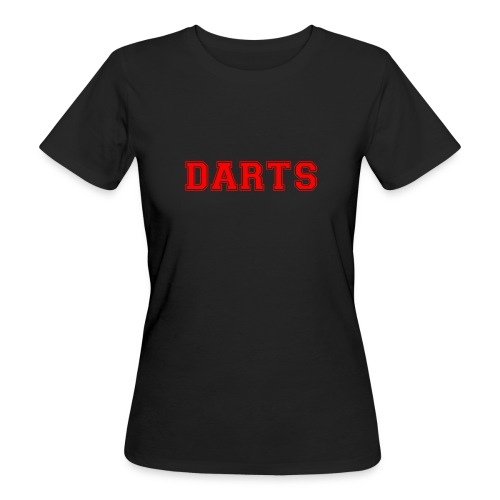 DARTS - Schriftzug in rot - Frauen Bio-T-Shirt