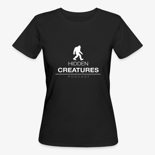 Hidden Creatures Logo White - Women's Organic T-Shirt
