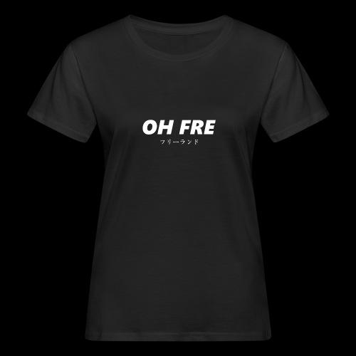 Oh Fre white - T-shirt ecologica da donna