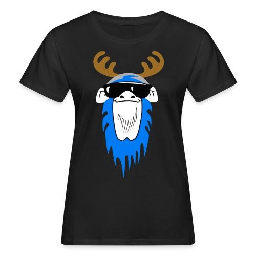 Bavarian Monkey Portrait mit Geweih - Frauen Bio-T-Shirt