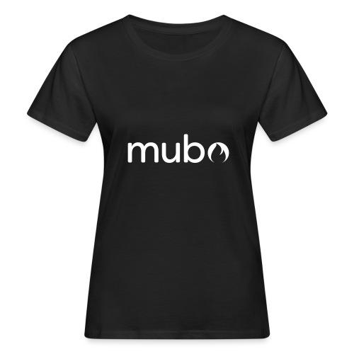 mubo logo Word White - Women's Organic T-Shirt
