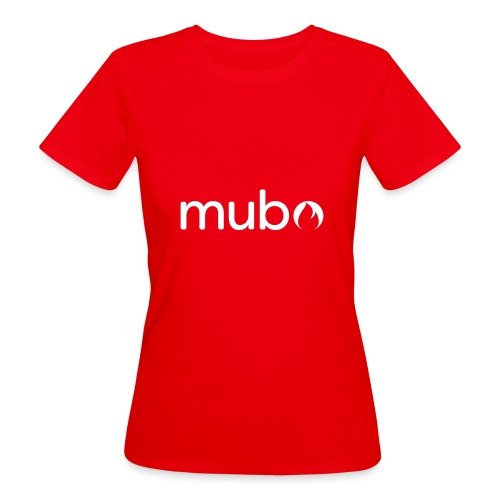 mubo logo Word White - Women's Organic T-Shirt