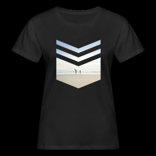 Surfing Beach - Frauen Bio-T-Shirt
