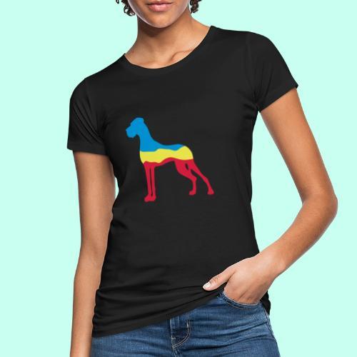 Flaggen Dogge - Frauen Bio-T-Shirt