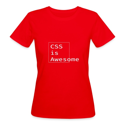 cssawesome - white - Vrouwen Bio-T-shirt