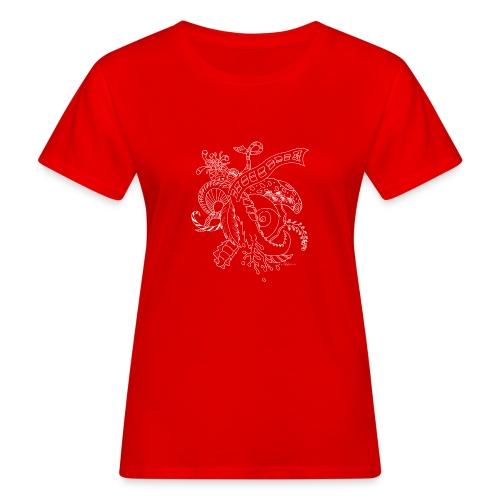 Fantasia valkoinen scribblesirii - Naisten luonnonmukainen t-paita