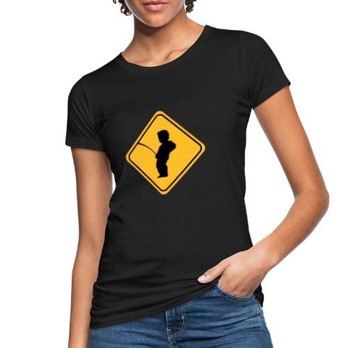 Manneken Pis sign - T-shirt bio Femme