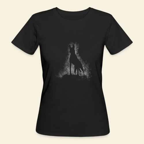 Dog Silhouette - Frauen Bio-T-Shirt