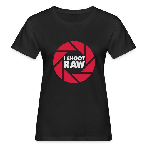 I shoot RAW - weiß - Frauen Bio-T-Shirt