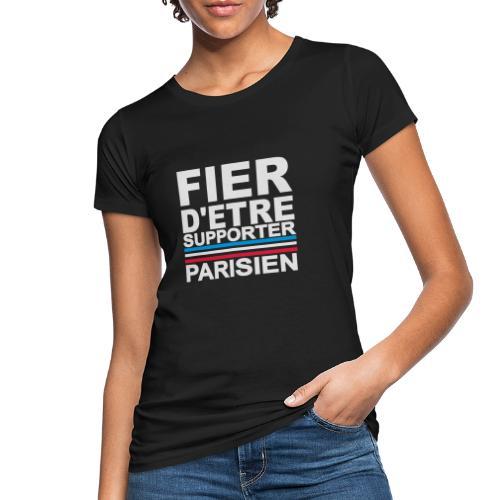 fier parisien blanc 01 - T-shirt bio Femme
