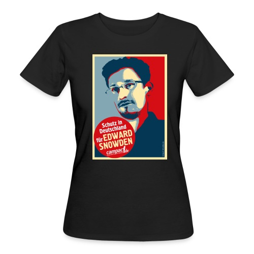 Motiv Snowden Obama SPREADSHIRT 01 jpg - Frauen Bio-T-Shirt