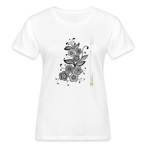diseño de flores - Camiseta ecológica mujer