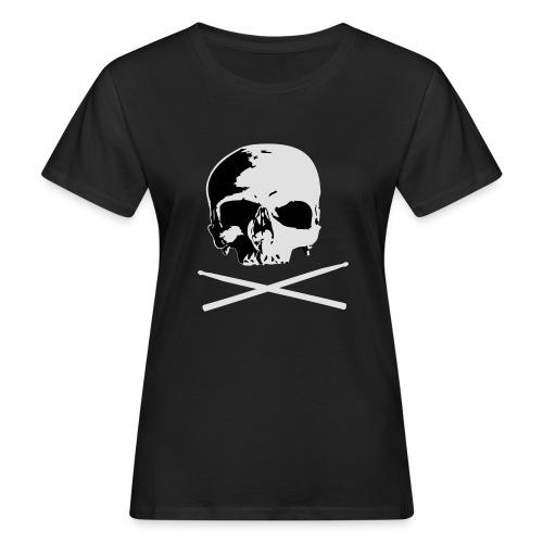 skull and sticks - Frauen Bio-T-Shirt