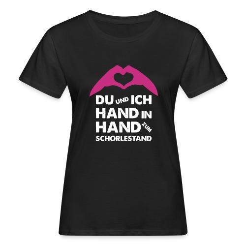 Hand in Hand zum Schorlestand / Gruppenshirt - Frauen Bio-T-Shirt