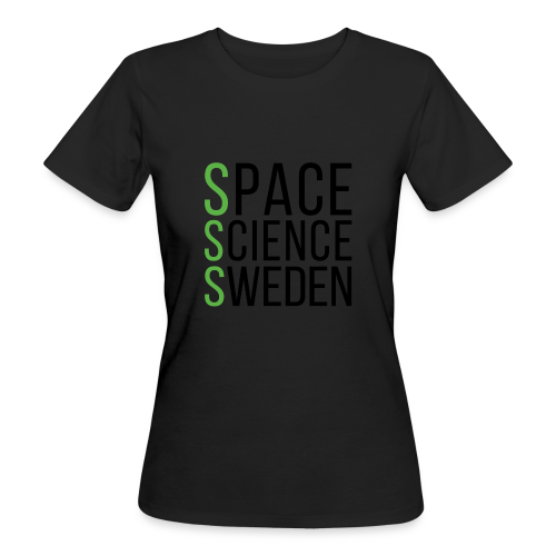 Space Science Sweden - svart - Ekologisk T-shirt dam