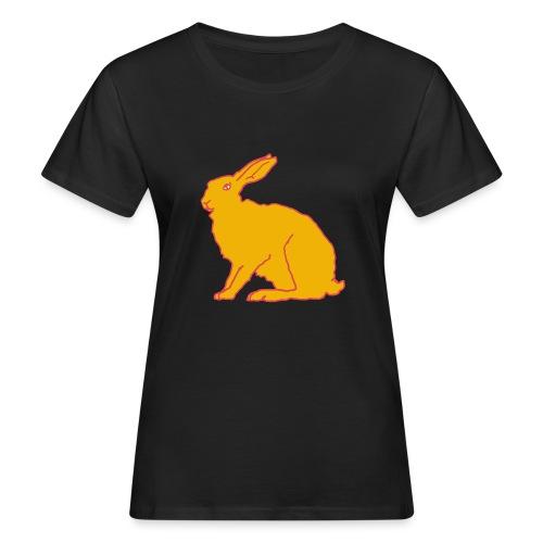 Gelber Hase - Frauen Bio-T-Shirt