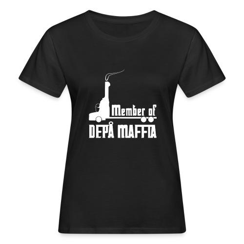 Depå Maffia vitt tryck - Ekologisk T-shirt dam