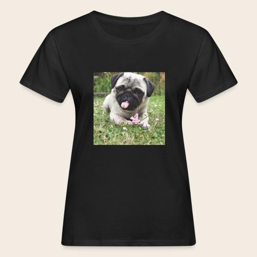 Mops Wiese - Frauen Bio-T-Shirt