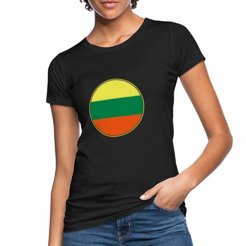 Litauen Flagge Rund Pixellamb - Frauen Bio-T-Shirt