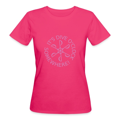 diveoclocklogodlpink png - Women's Organic T-Shirt