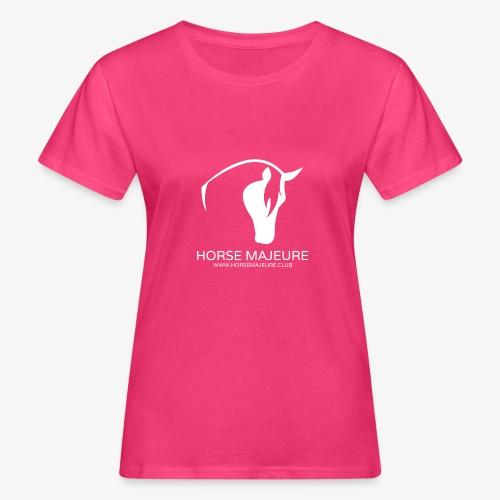 Horse Majeure Logo / Valkoinen - Naisten luonnonmukainen t-paita