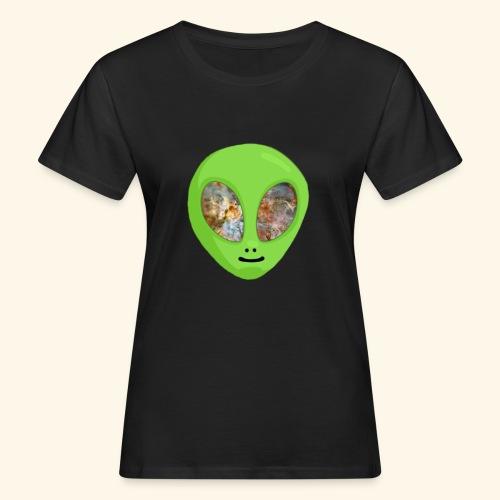 Alien hoofd 1 - Vrouwen Bio-T-shirt