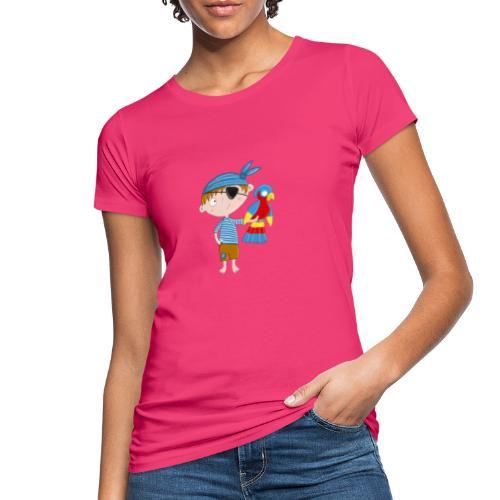 Kleiner Pirat mit Papagei - Frauen Bio-T-Shirt
