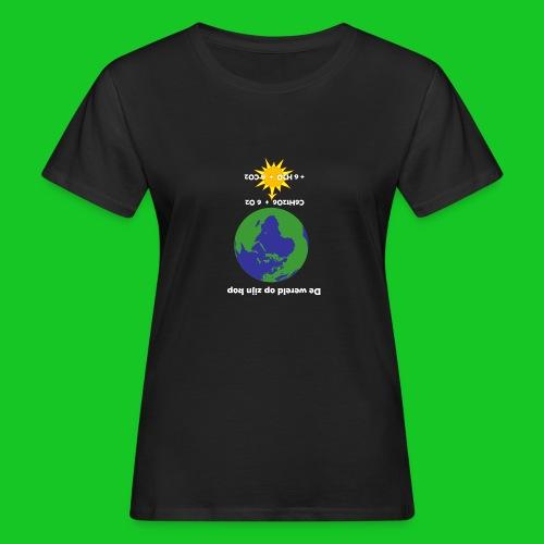 De wereld op zijn kop - Vrouwen Bio-T-shirt