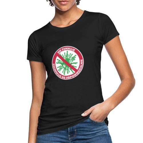 nie panikuje corona-virus - Ekologiczna koszulka damska